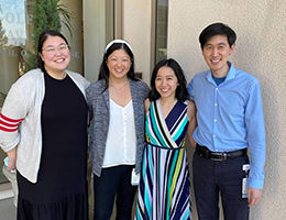 Pictured are Vallent Lee, Ashley Han, Jeanette Fong, and Kelly Jeu